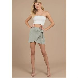 Tobi Trinity Olive Wrap Skirt